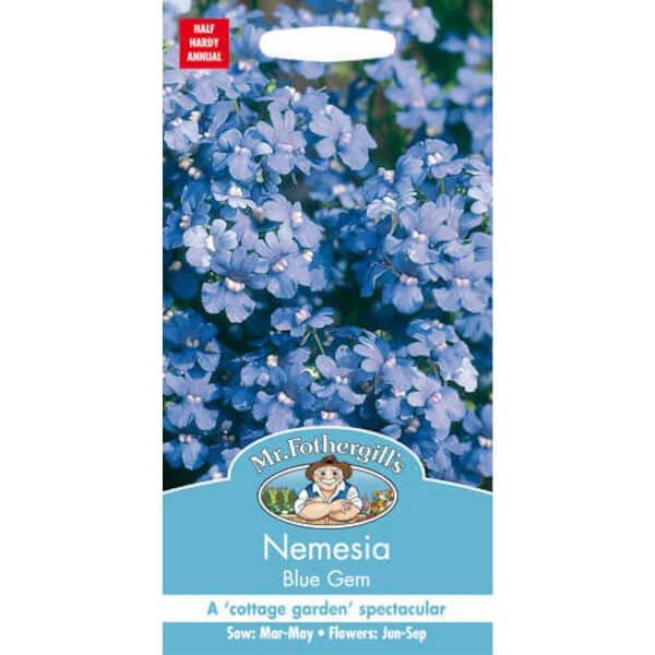 Mr. Fothergill's Nemesia Blue Gem Seeds