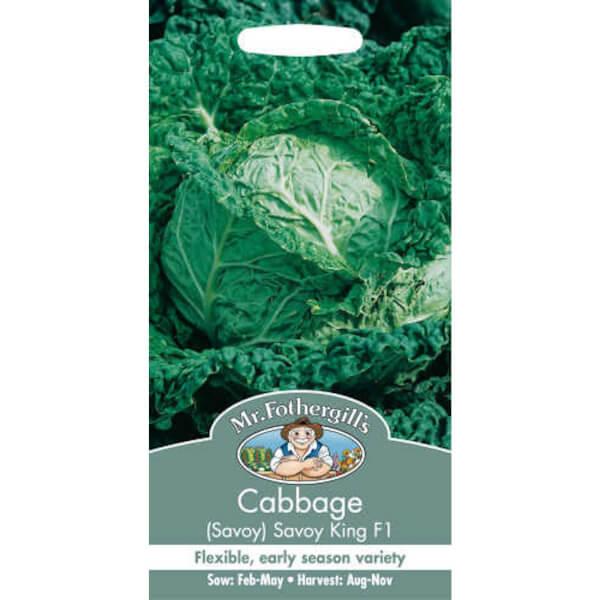 Mr. Fothergill's Cabbage Savoy Savoy King F1 Seeds