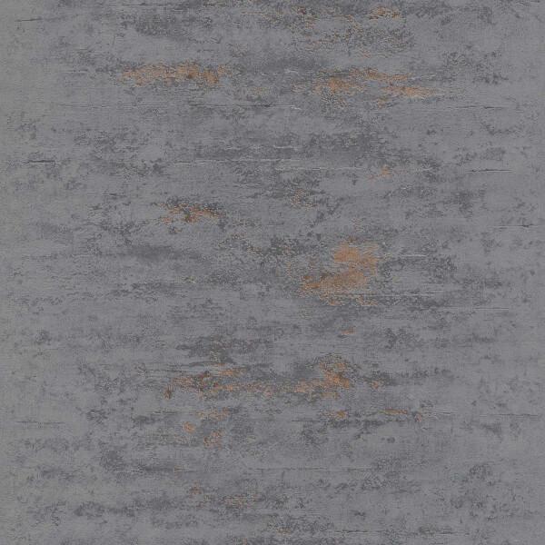 Grandeco Metallic Concrete Black Wallpaper