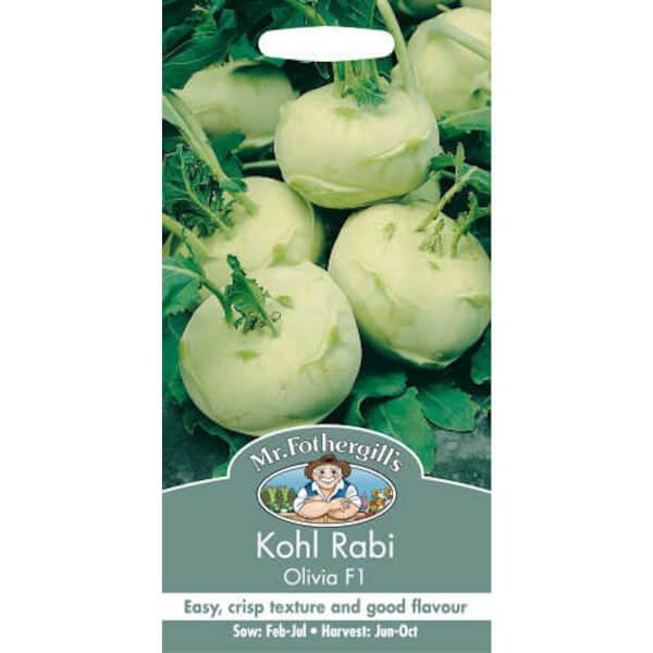 Mr. Fothergill's Kohl Rabi Olivia F1 Vegetable Seeds