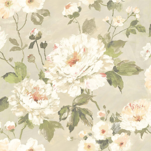 Grandeco Painterly Floral Neutral Wallpaper