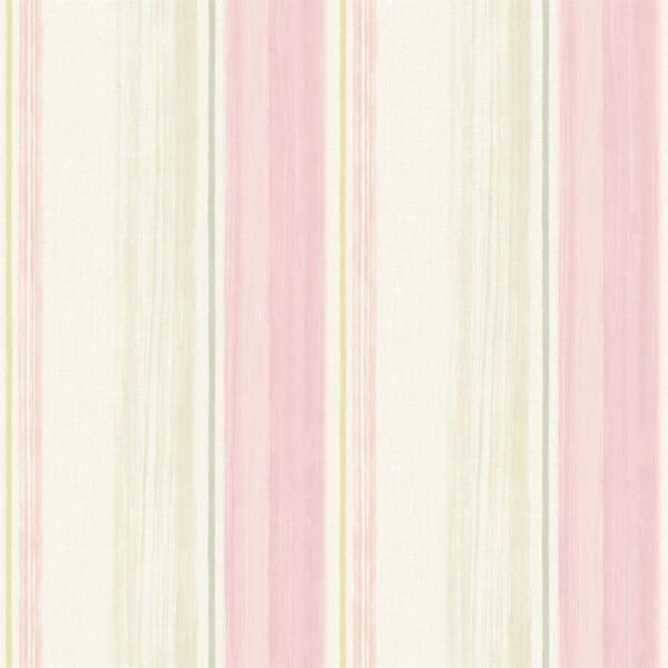 Grandeco Painterly Stripe Pink Wallpaper