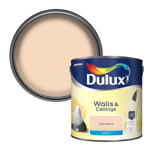 Dulux Soft Peach - Matt Emulsion Paint - 2.5L