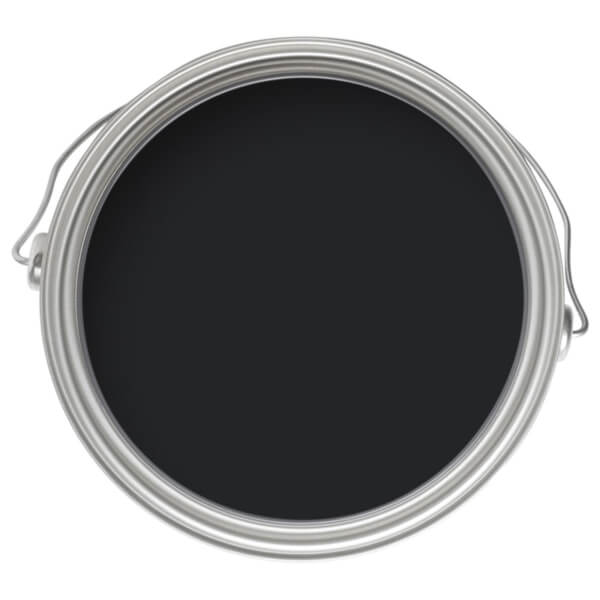 Farrow & Ball Modern Eggshell Midsheen Paint Pitch Black No.256 - 750ml