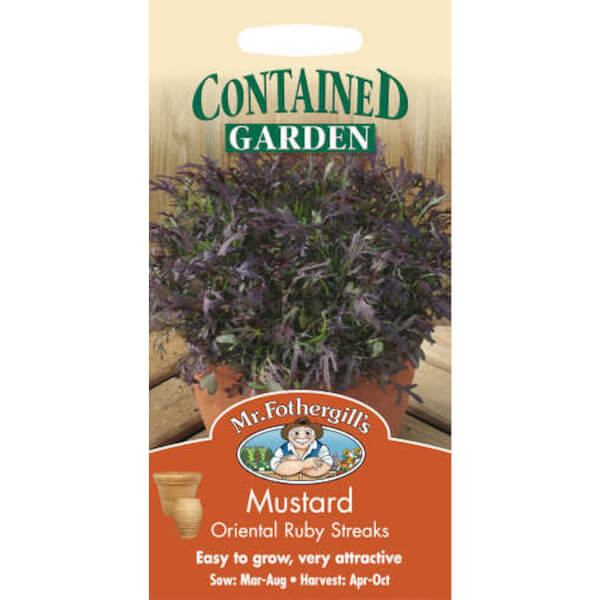 Mustard Oriental Ruby Streaks Vegetable Seeds