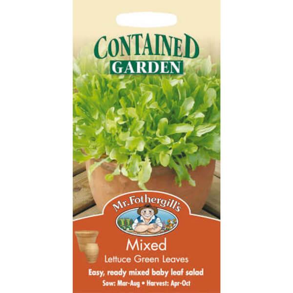 Mr. Fothergill's Mixed Lettuce Green Leaves Vegetable Seeds