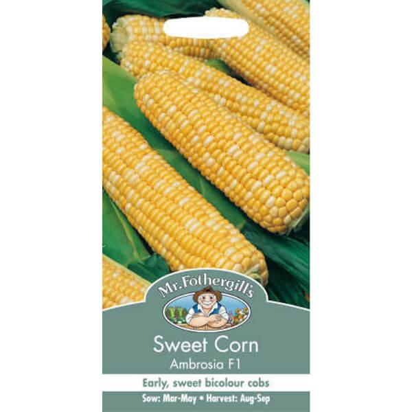 Mr. Fothergill's Sweetcorn Ambrosia F1 Vegetable Seeds