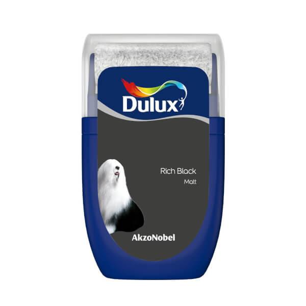 Dulux Standard Rich Black Tester Paint - 30ml