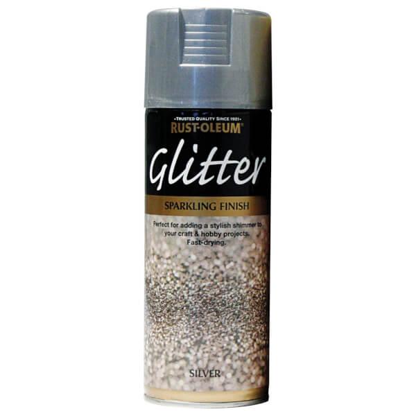 Rust-Oleum Silver - Glitter Spray Paint - 400ml