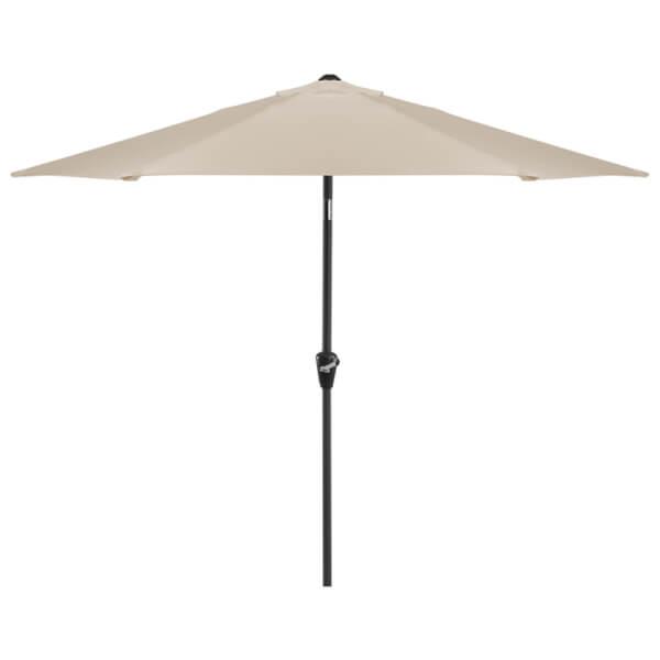 Aluminium Umbrella Parasol - 2.4m - Beige