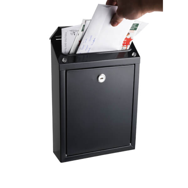 Sandleford Cooper Wall Mount Mailbox - Black