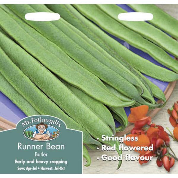 Mr. Fothergill's Runner Bean Butler Vegetable Seeds