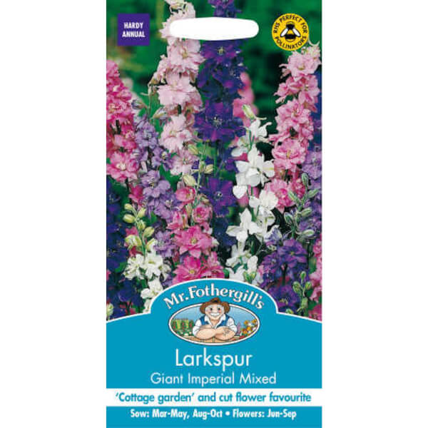 Larkspur Giant Imperial Mixed (Consolida Ambigua) Seeds