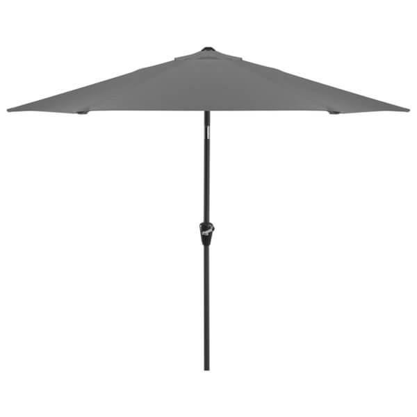 Aluminium Umbrella Parasol - Crank & Tilt - 2.4m - Grey