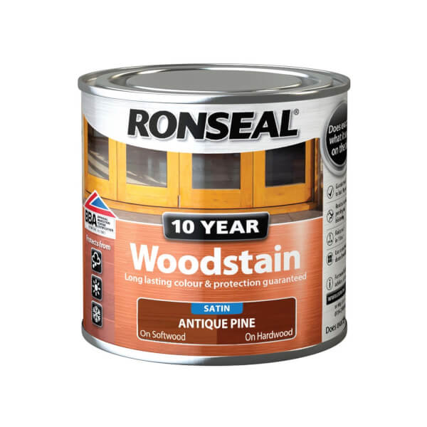 Ronseal 10 Year Woodstain Satin Antique Pine - 250ml