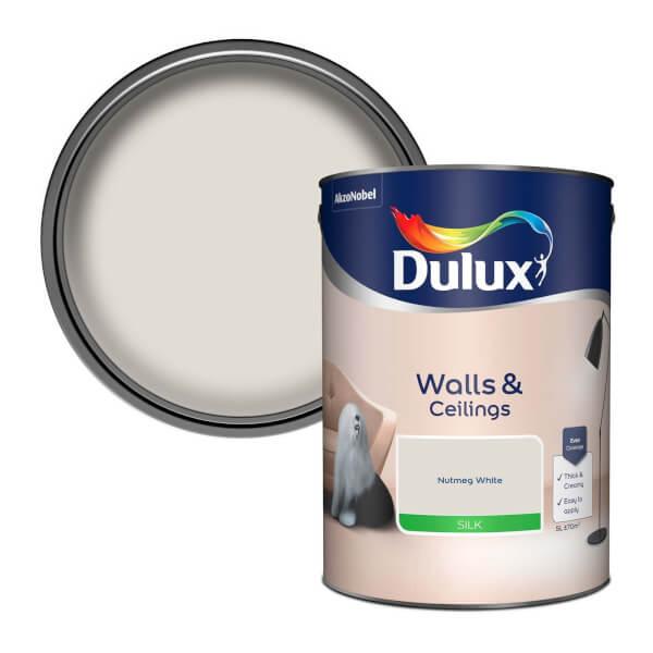 Dulux Natural Hints Nutmeg White - Silk Emulsion Paint - 5L