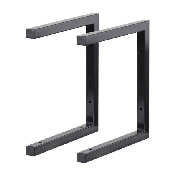 Double Shelf U Bracket Black - 330x300mm