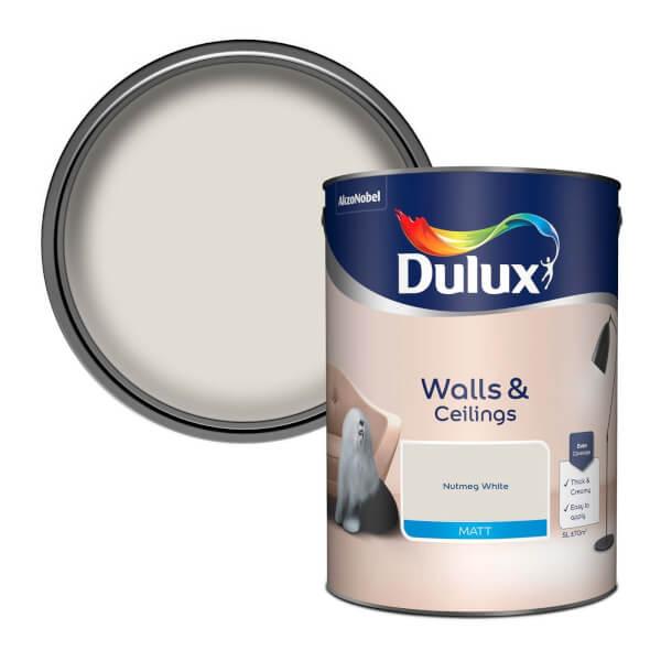 Dulux Natural Hints Nutmeg White - Matt Emulsion Paint - 5L
