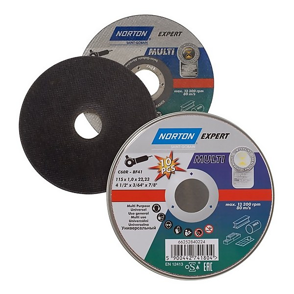 Norton Multi-purpose Cutting Disc - 115 x 1 x 22mm