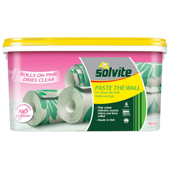 Solvite Pink Paste The Wall Wallpaper Paste - 5 Roll Bucket