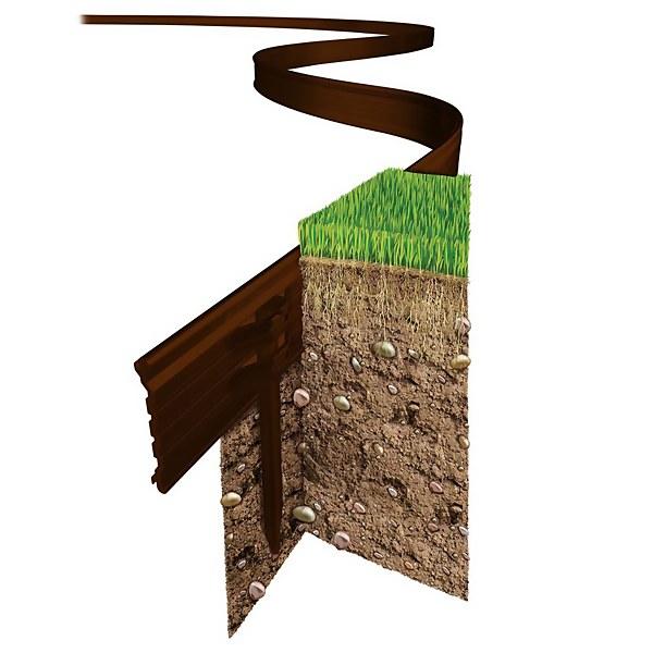 Swift Edge Garden Edging - 30m - Brown