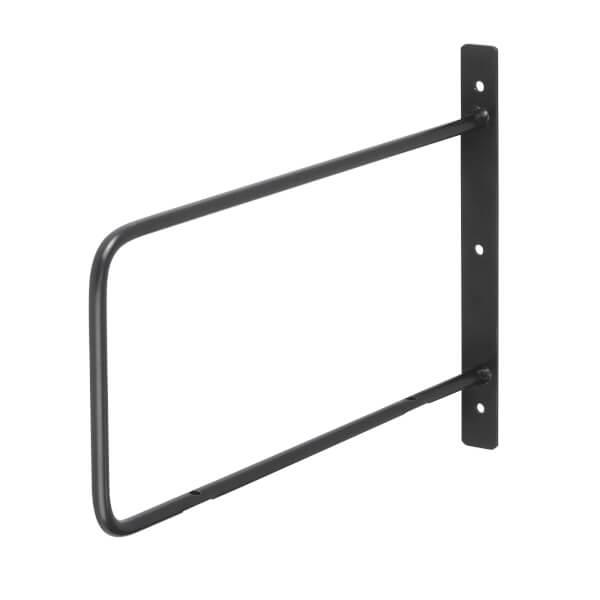 Minimal D Shaped Bracket - Black - 200x250mm