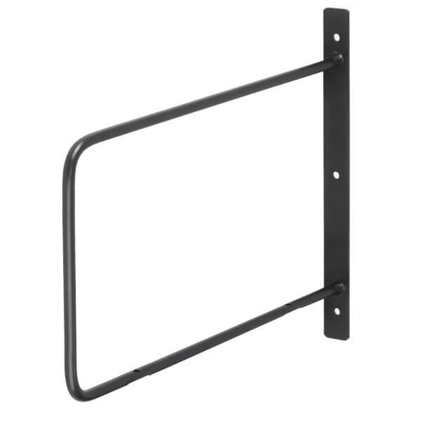 Minimal D Shaped Bracket - Black - 200x200mm