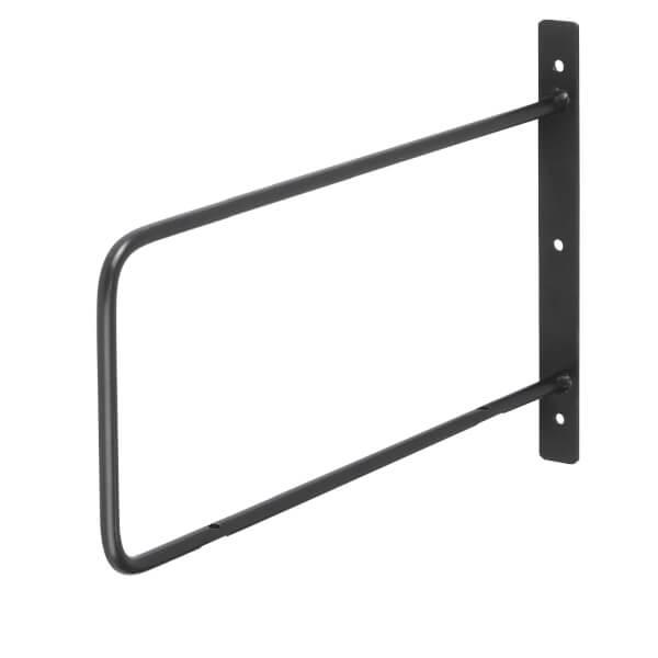 Minimal D Shaped Bracket - Black - 200x300mm