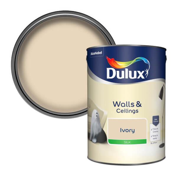 Dulux Ivory - Silk Emulsion Paint - 5L