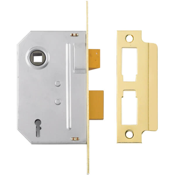 Yale PM320 3 Lever Sashlock 76mm - Brass