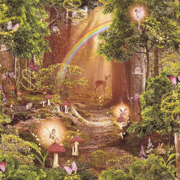 Arthouse Magic Garden Kids Smooth Multi Coloured Wallpaper
