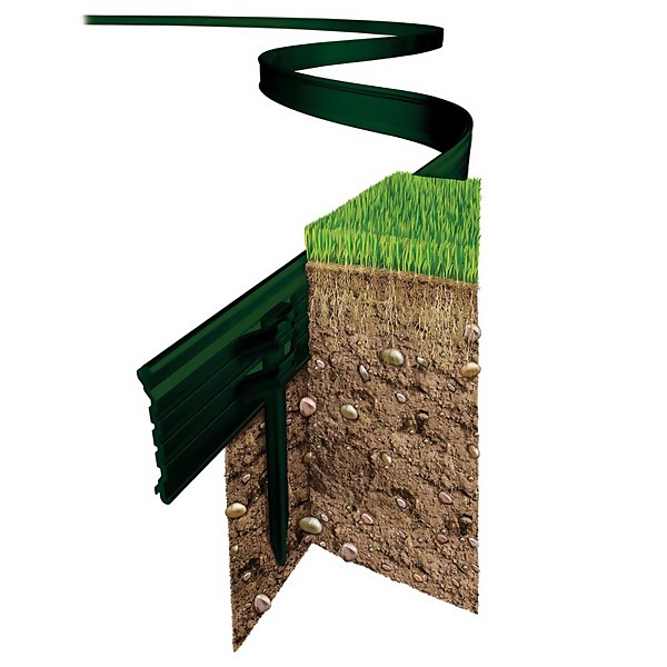Swift Edge Garden Edging - 12m - Green