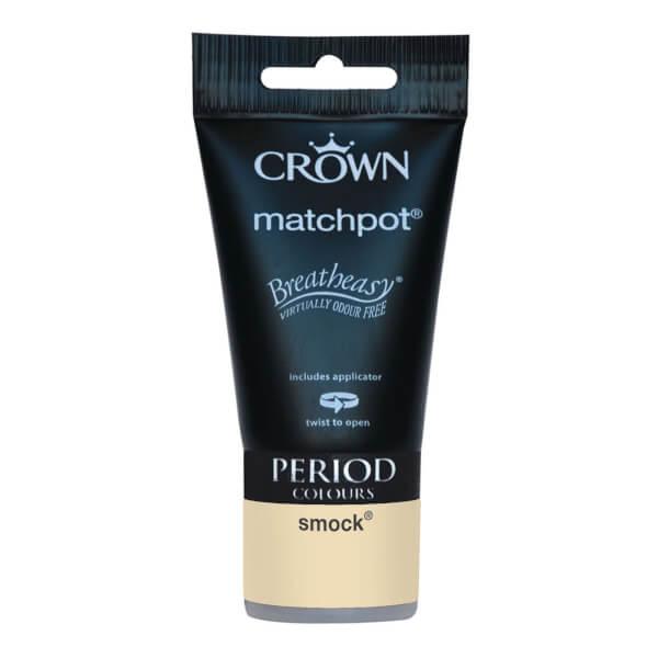 Crown Period Colours Breatheasy Smock - Flat Matt Emulsion Paint - 40ml Tester