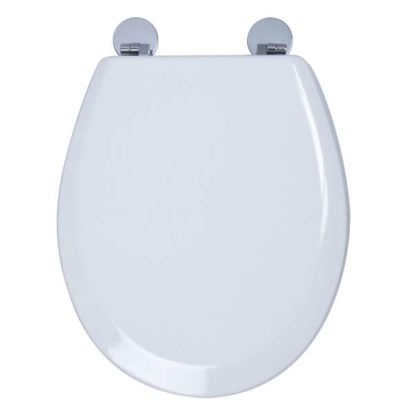 Croydex Como Moulded Wood Toilet Seat - White