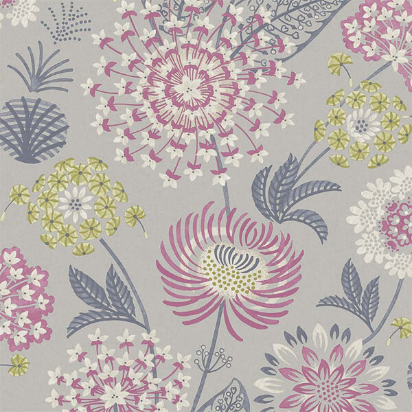 Arthouse Vintage Bloom Floral Smooth Flat Raspberry Wallpaper
