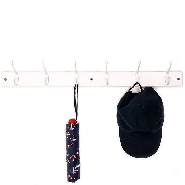 Standard Hat & Coat Hook - 6 Hooks