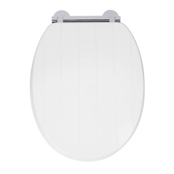 Croydex Portland Moulded Wood Toilet Seat - White