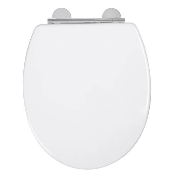 Croydex Lugano Moulded Wood Toilet Seat - White
