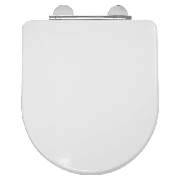Croydex Garda D-Shaped Moulded Wood Toilet Seat - White