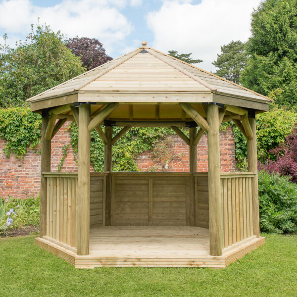 Forest (Installation Included) Timber Roof Gazebo - 3.6m