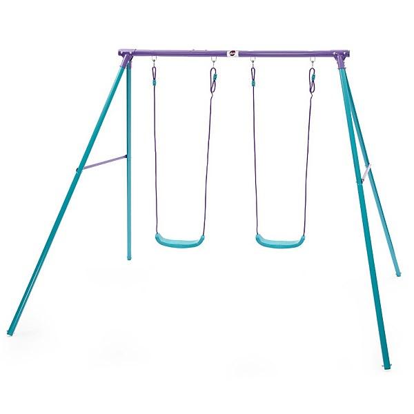Plum Sedna Double Swing Set - Purple/Teal