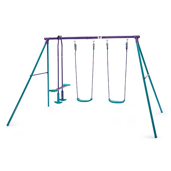 Plum Jupiter Double Swing & Glider Set - Purple/Teal