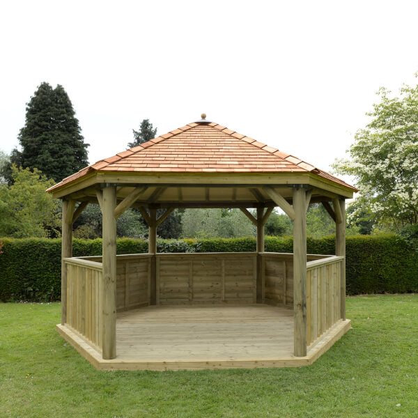 Forest (Installation Included) Cedar Roof Gazebo - 4.7m