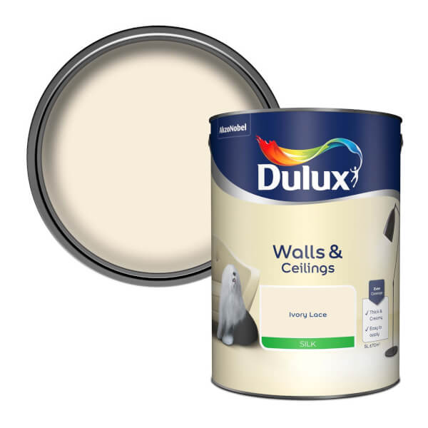 Dulux Ivory Lace - Silk Emulsion Paint - 5L