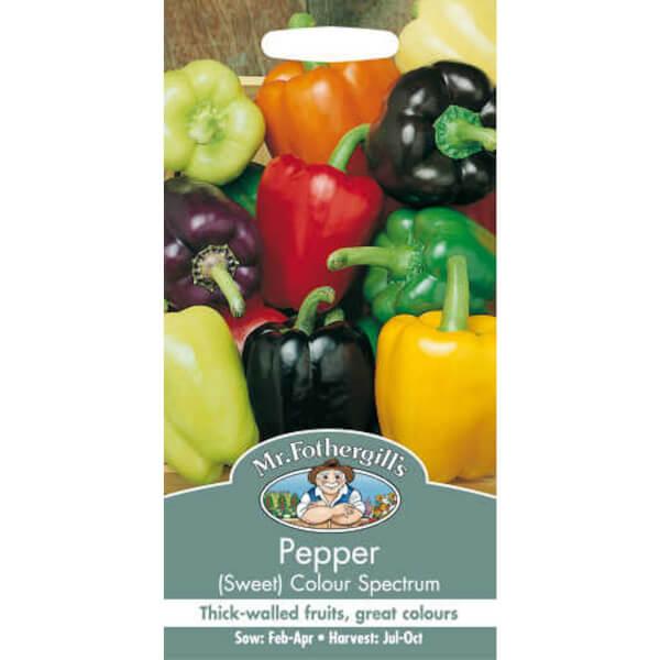 Mr. Fothergill's Sweet Pepper Colour Spectrum (Capsicum Annuus) Seeds