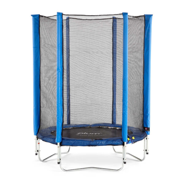 Plum 4.5ft Junior Trampoline & Enclosure - Blue