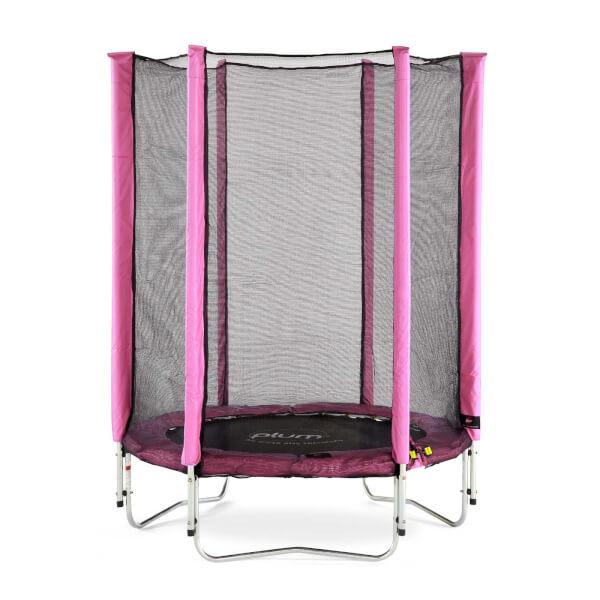 Plum 4.5ft Junior Trampoline & Enclosure - Pink