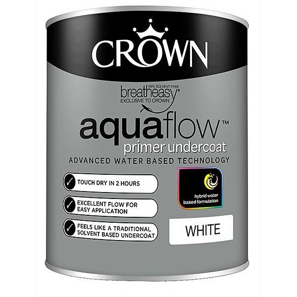 Crown Pure Brilliant White Aquaflow Undercoat - 750ml