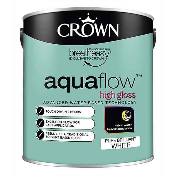 Crown Pure Brilliant White Aquaflow Gloss - 2.5L