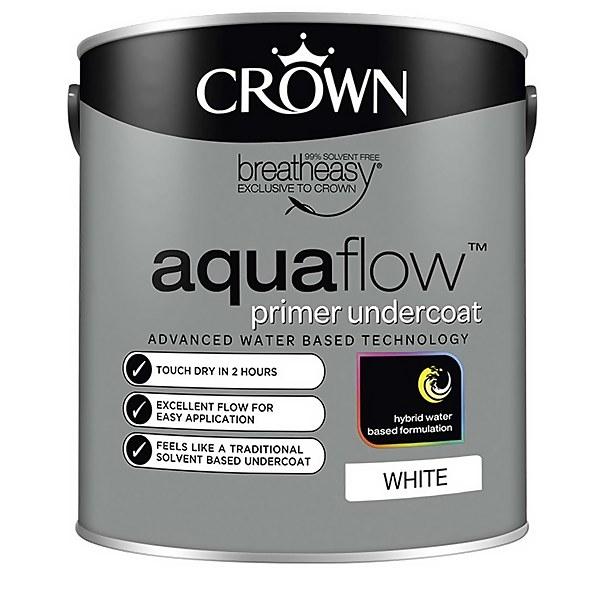 Crown Pure Brilliant White Aquaflow Undercoat - 2.5L